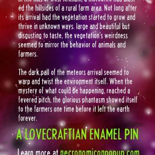 Evil Meteor Enamel Pin