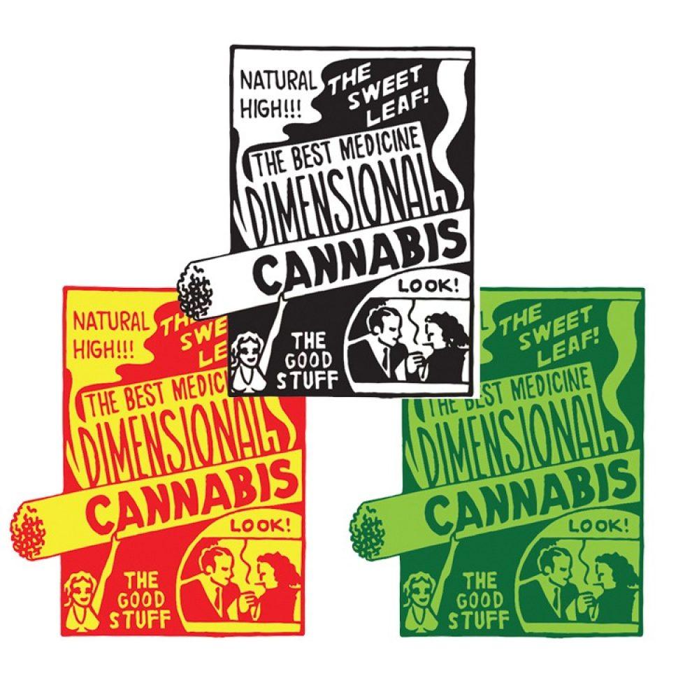 Dimensional Cannabis Enamel Pins